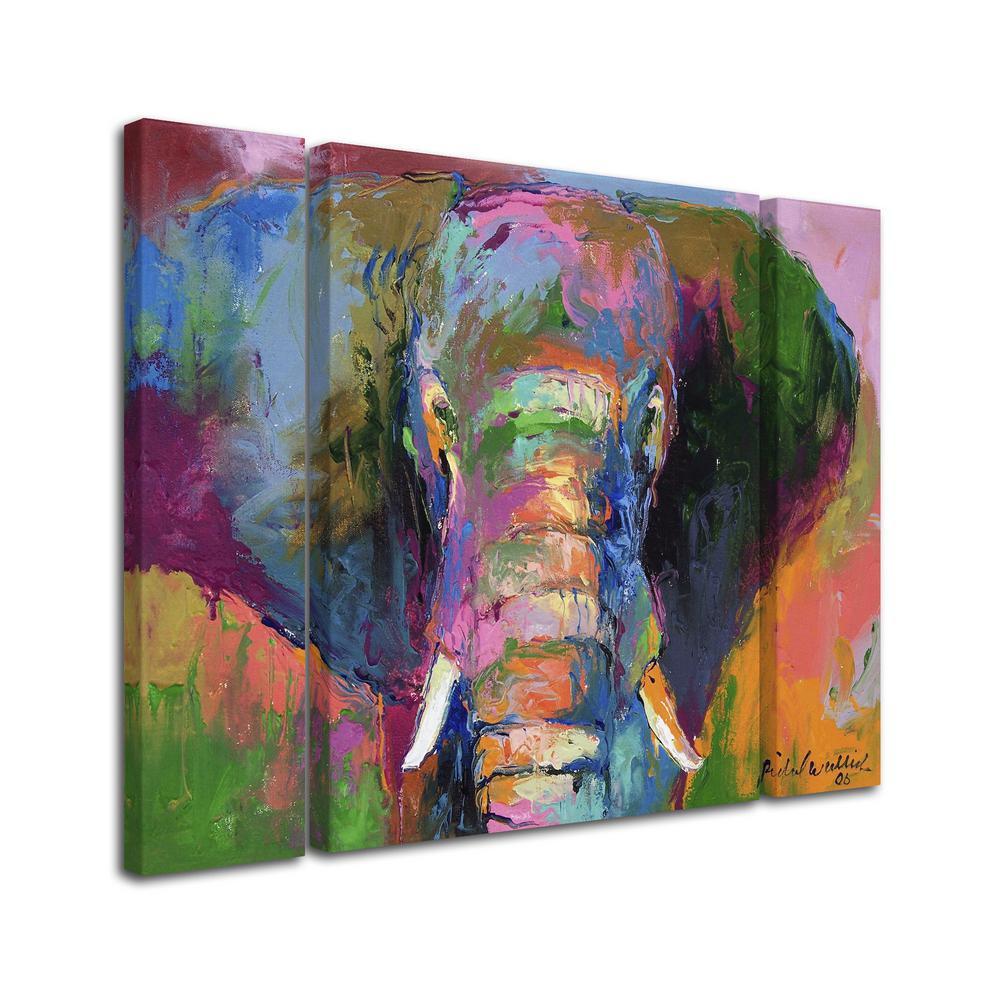 Trademark Fine Art 30 In X 41 In Elephant 2 By Richard Wallich Printed Canvas Wall Art Ali0339 3pc Set Lg The Home Depot