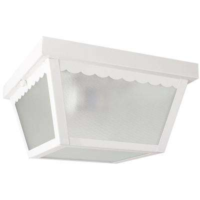 Lacovelli 2-Light White Outdoor Flush Mount