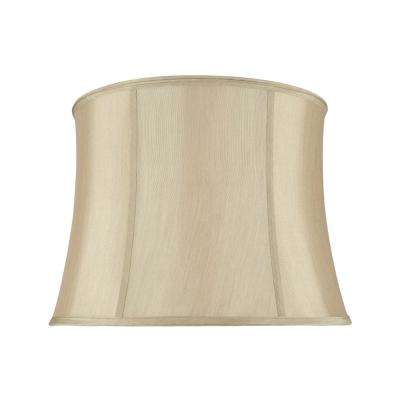 16 in. x 12 in. Gold Taupe Bell Lamp Shade