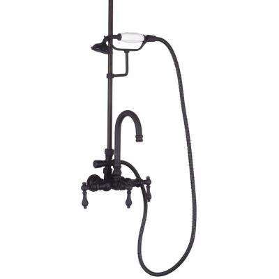 TW24 3-Handle Claw Foot Tub Faucet with Handshower in Oil Rubbed Bronze