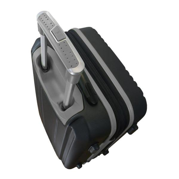 Denco Ncaa Miami 21 In Black Hardcase 2 Tone Luggage Carry On Spinner Suitcase Clmul208 Black The Home Depot