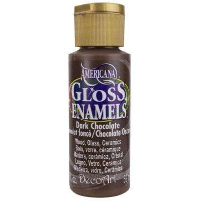 2 oz. Dark Chocolate Gloss Enamel Paint