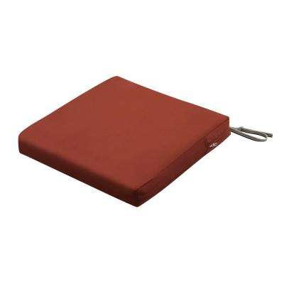 Ravenna 19 in. W x 19 in. D x 3 in. Thick Spice Square Outdoor Seat Cushion