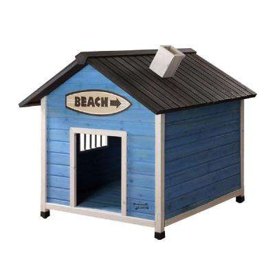 3.4 ft. L x 3 ft. W x 3 ft. H Large Beach House Dog House
