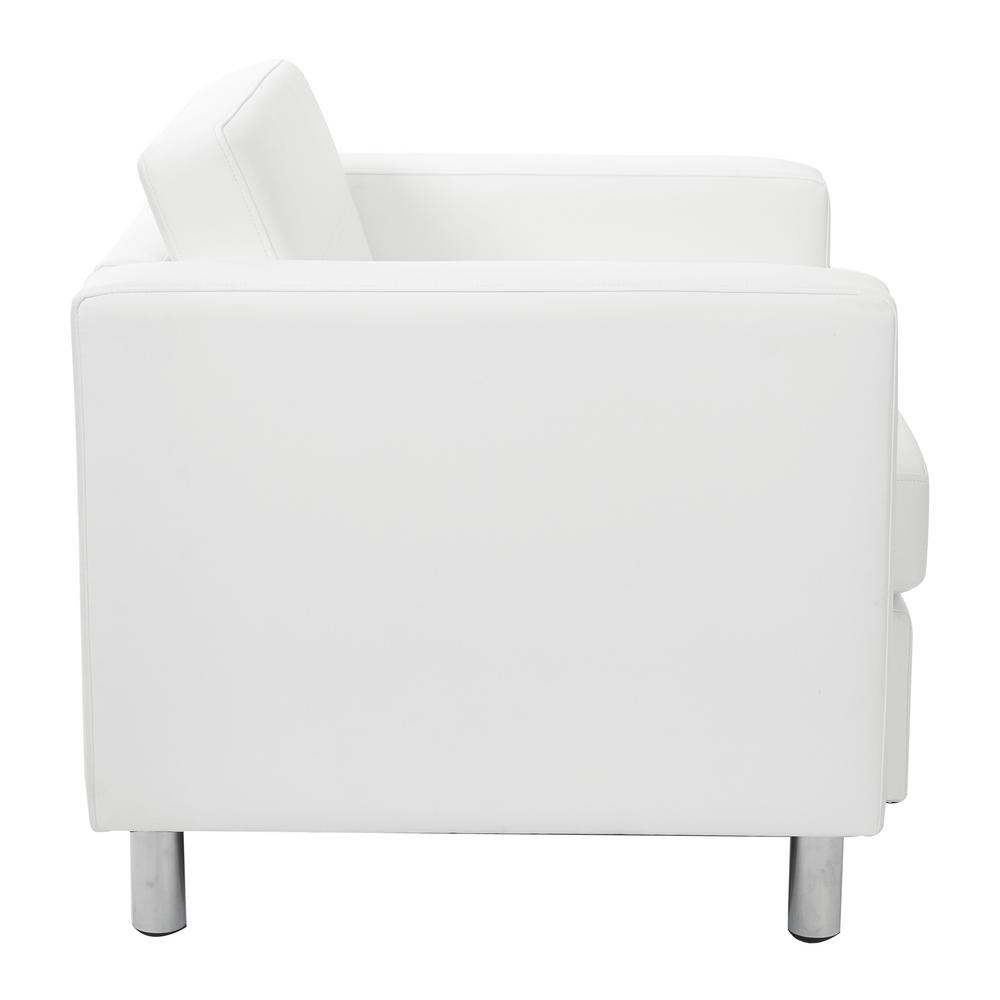 Superb Osp Home Furnishings Pacific Dillon Snow Vinyl Fabric Arm Machost Co Dining Chair Design Ideas Machostcouk