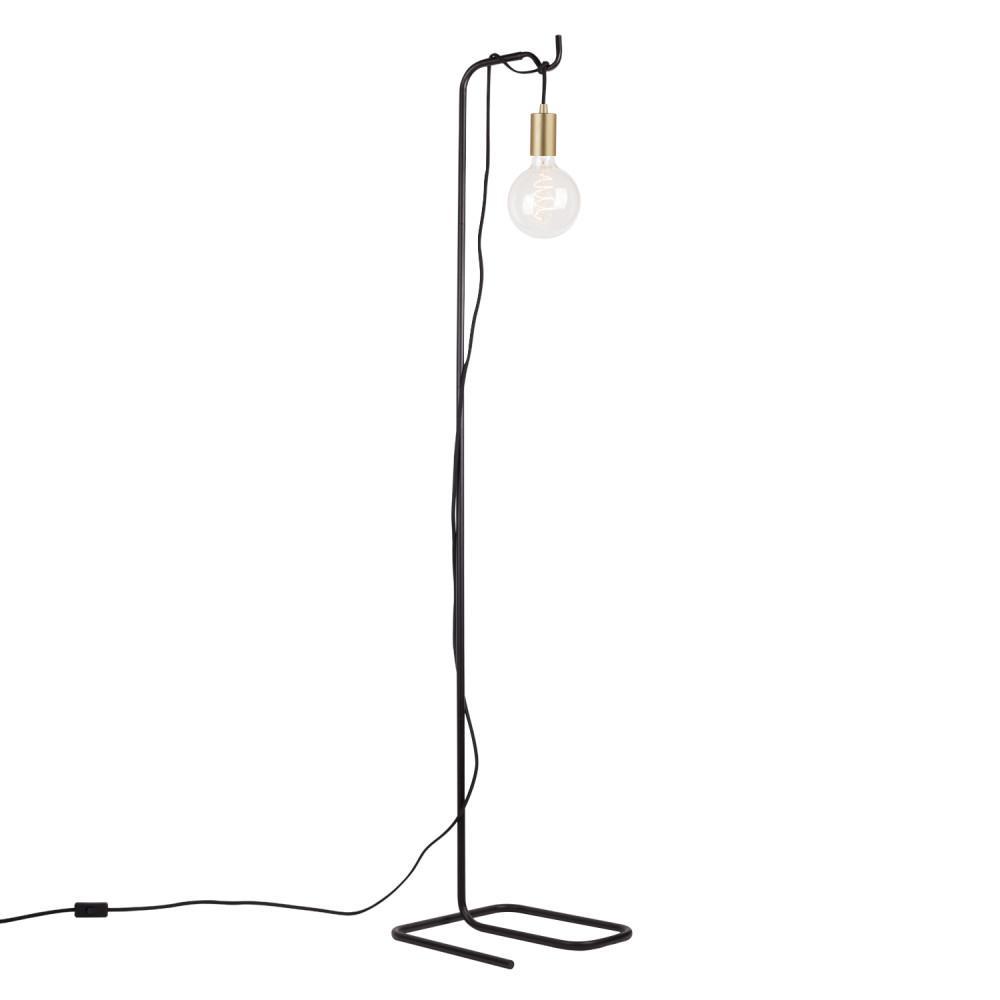 Globe Electric Designer Series 60 In Black Floor Lamp With Black