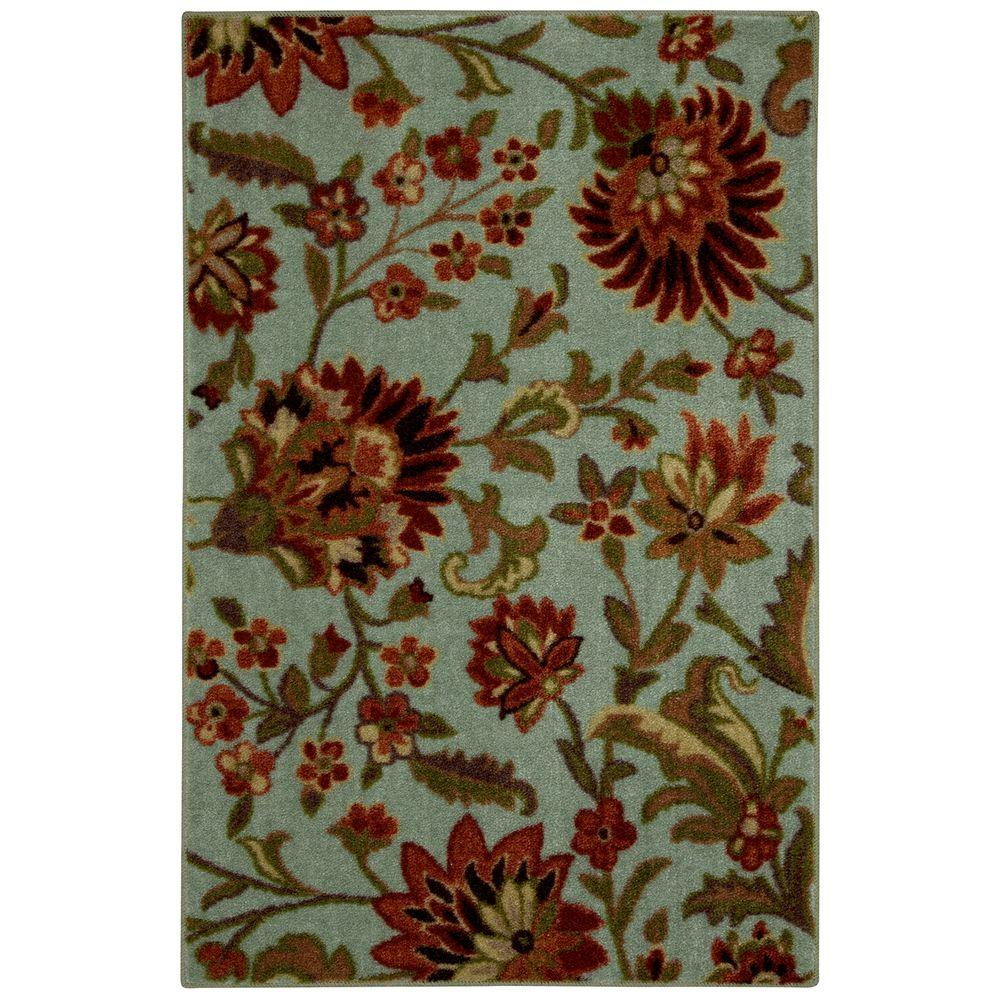 Mohawk Home Syrie Light Blue 2 ft 6 in x 3 ft 10 in Accent Rug-DISCONTINUED