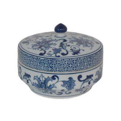 5.75 in. Blue and White Ceramic Jar