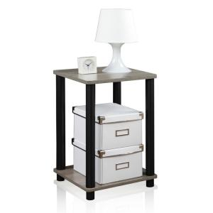 Furinno Turn N Tube Simple French Oak Grey End Table by Furinno
