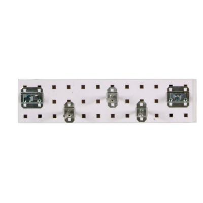 3/8 in. White Pegboard Wall Organizer Strip with Assortment