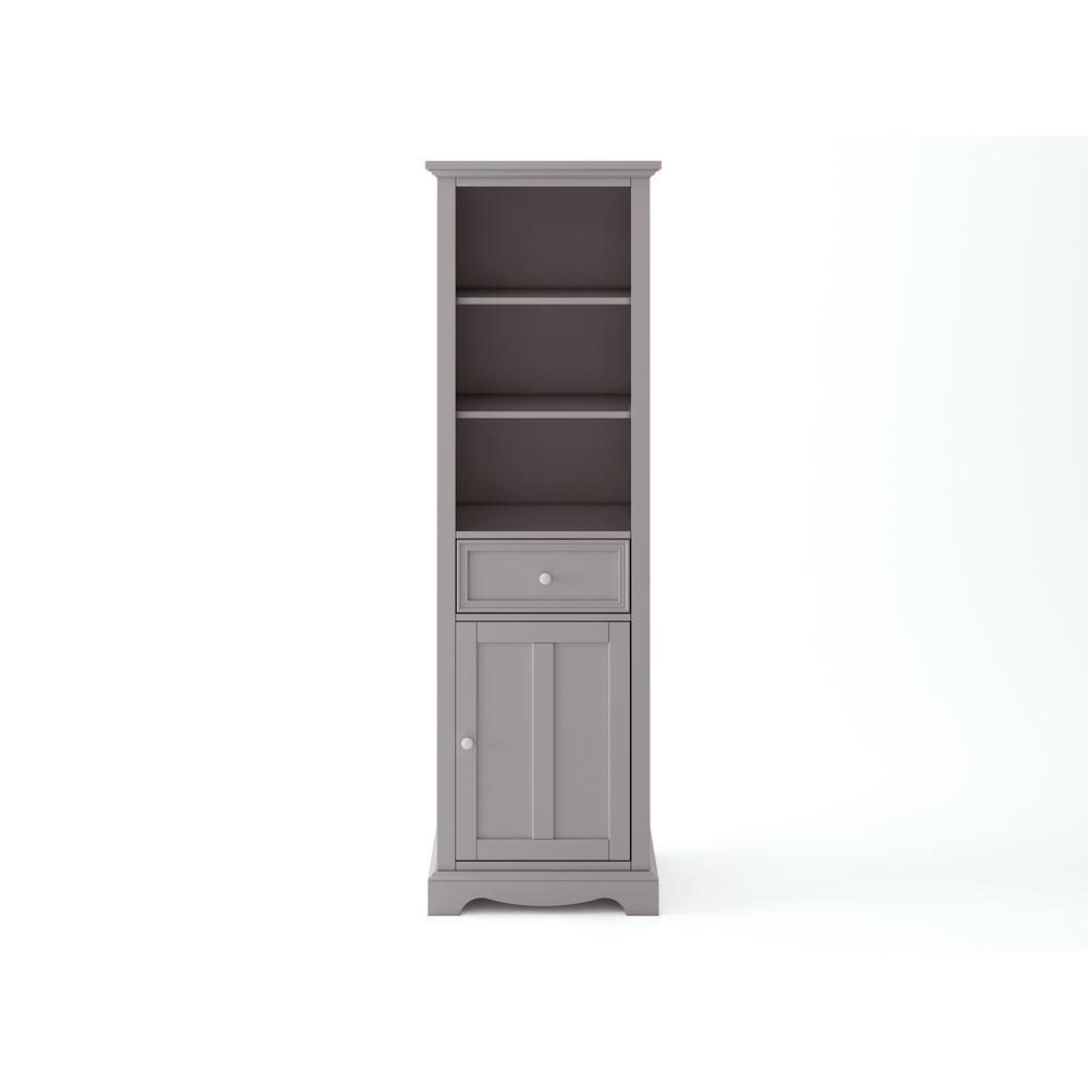 Fremont 20 in. W x 14 in. D x 65 in. H Linen Cabinet in Grey