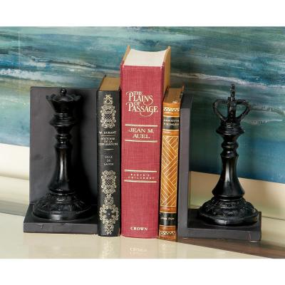 Black Chess Piece Bookends (Set of 2)