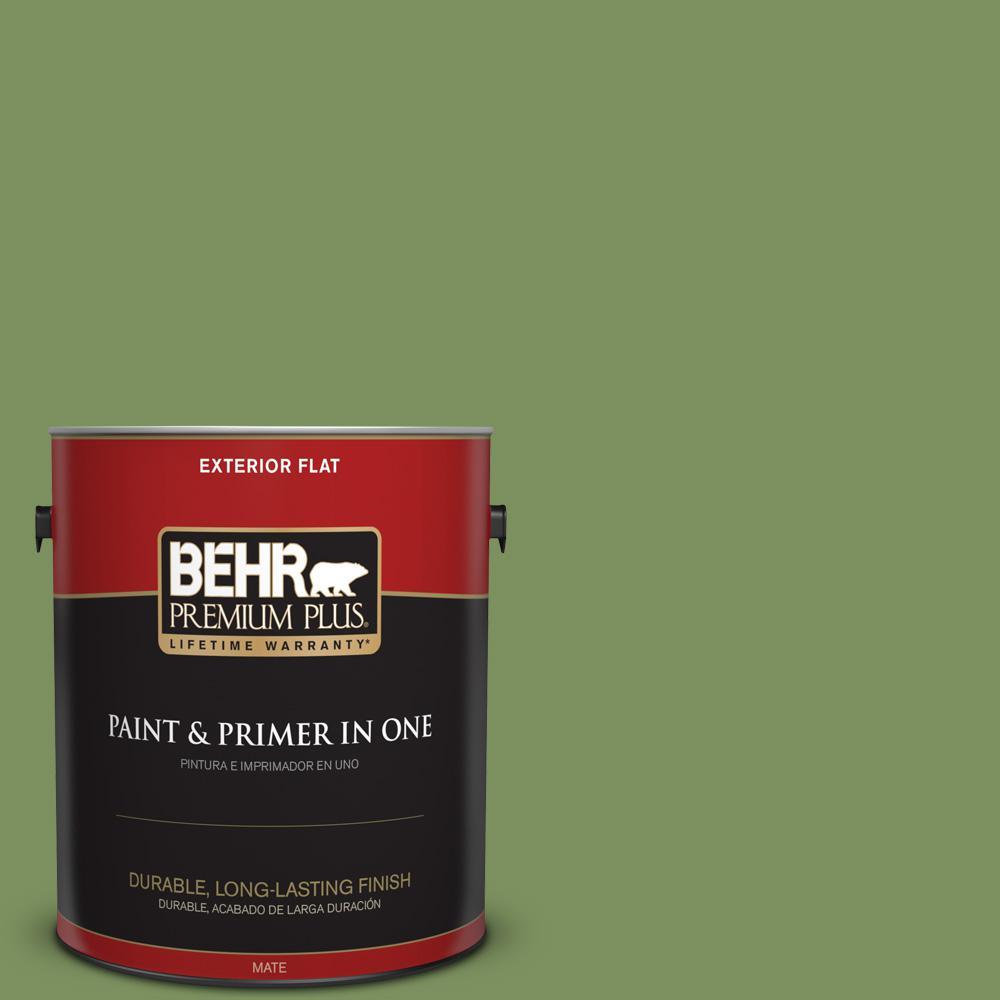 1 gal. #PPU10-03 Green Energy Flat Exterior Paint