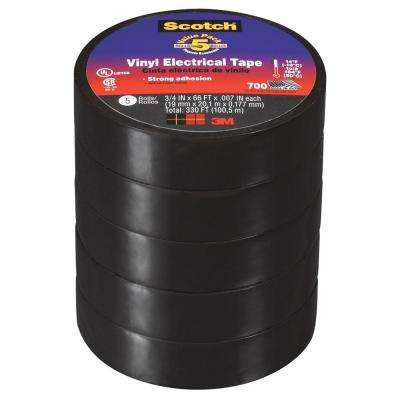 Scotch 3/4 in. x 66 ft. 700 Vinyl Electrical Tape (Case of 6)