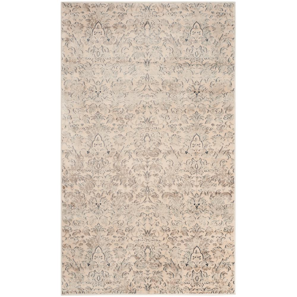 Vintage Ivory/Gray 3 ft. x 5 ft. Area Rug
