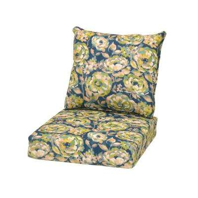 Philomena Floral 2-Piece Deep Seating Outdoor Lounge Chair Cushion