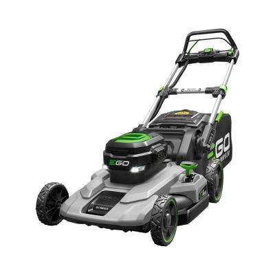 21 In 56 Volt Lithium Ion Cordless Walk Behind Self Propelled Mower Kit 7 5 Ah Battery Charger Included