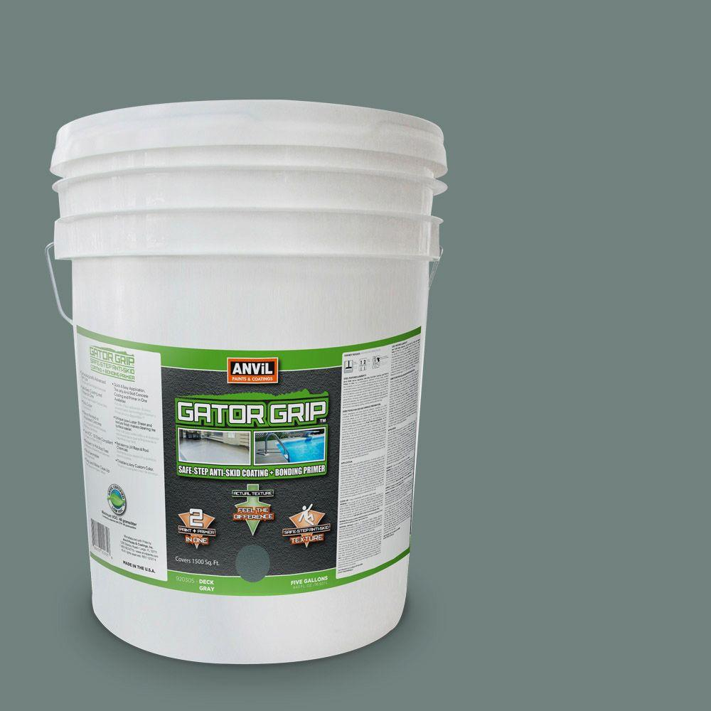 Anvil 5-gal. Deck Grey Anti-Skid Coating and Bonding Primer