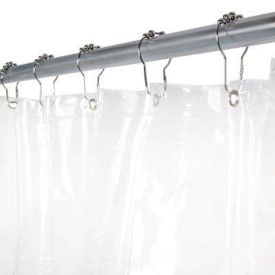 70 in. x 72 in. Medium Weight Peva Shower Liner in Clear