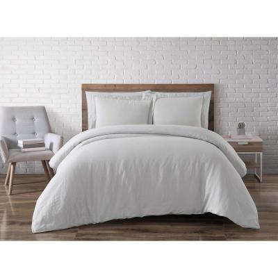 Linen Platinum Queen Duvet Set