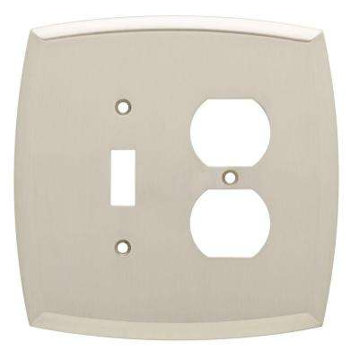 Mandara Decorative Switch and Duplex Outlet Cover, Brushed Nickel