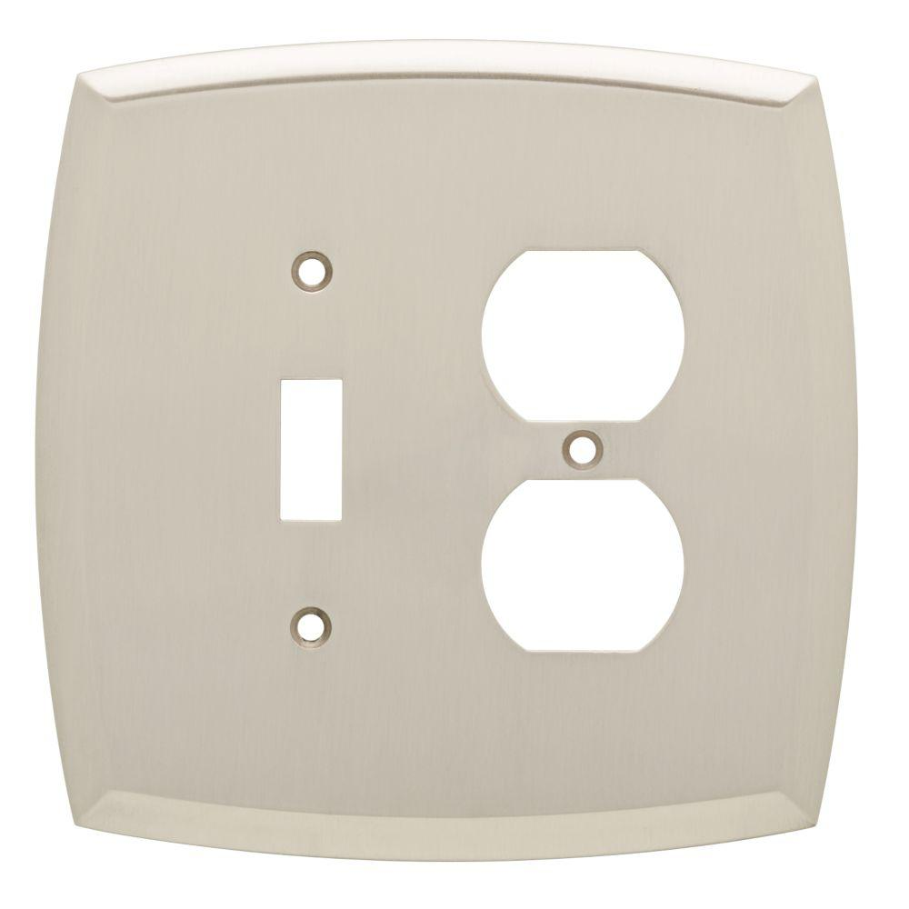 Liberty Amherst Decorative Light Switch And Duplex Outlet Cover Satin Nickel