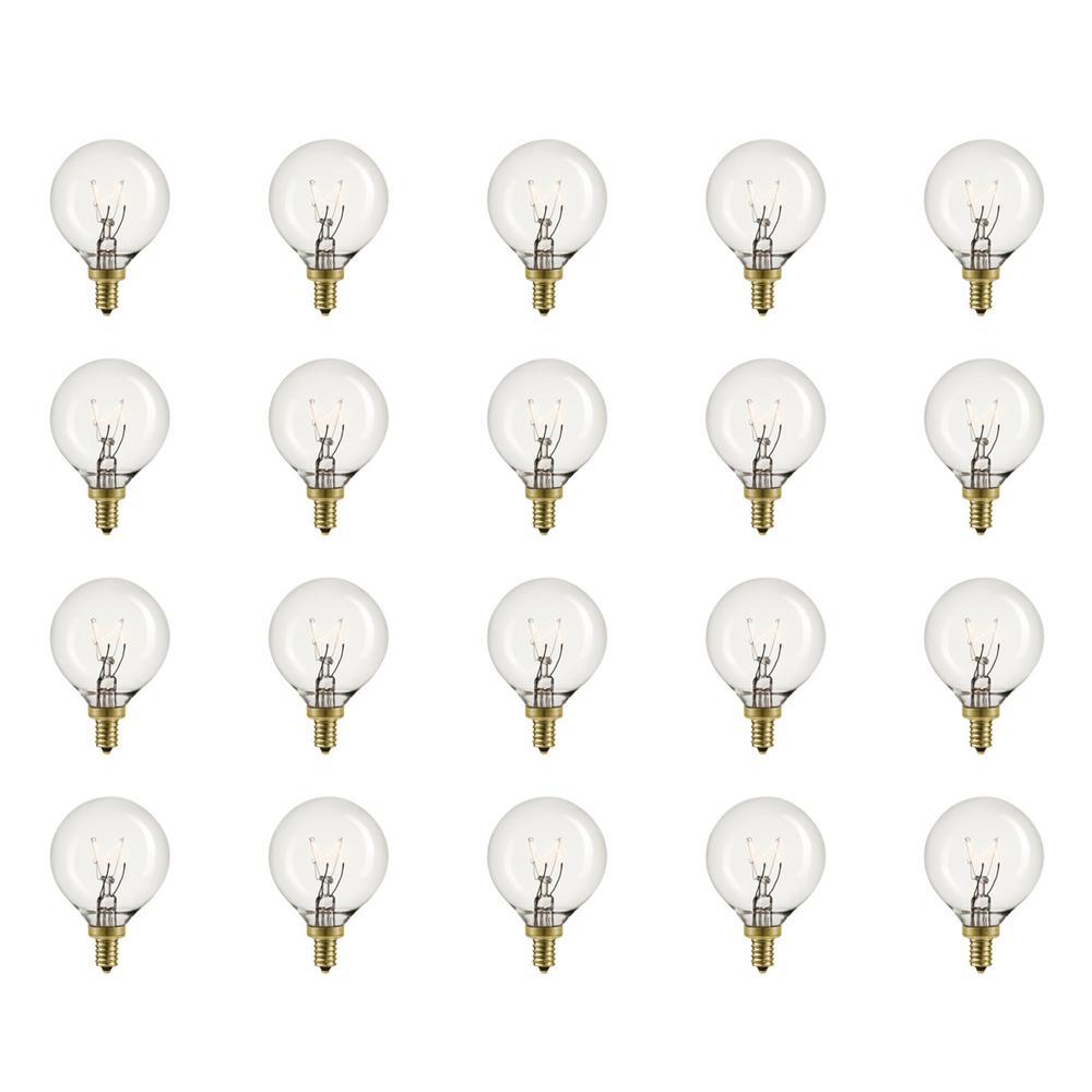 5-Watt Vintage Edison G12 Incandescent Light Bulb (20-Pack)