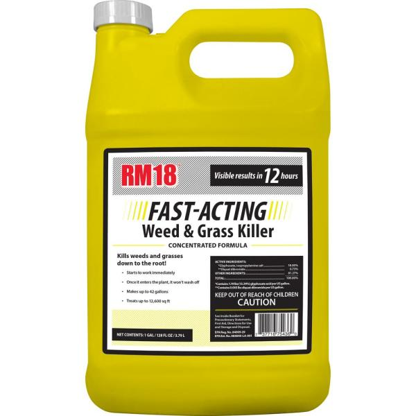 1 Gal. Fast-Acting Weed and Grass Killer Concentrate
