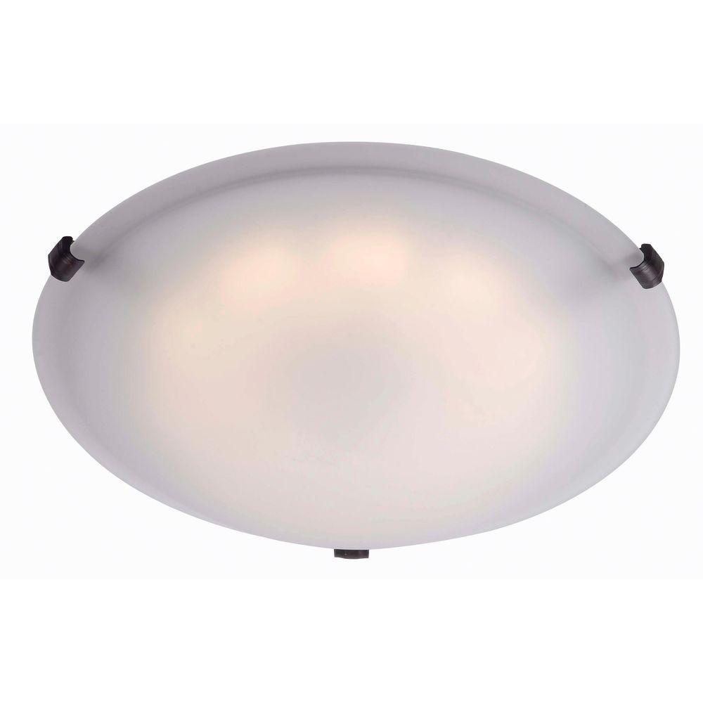 Light Fixtures Duluth Mn: Kenroy Home Aero Oil Rubbed Bronze LED Large Flushmount