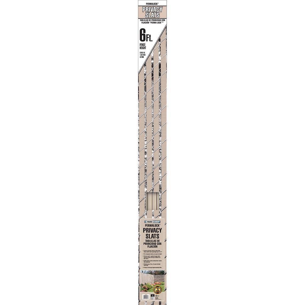 6 ft. H x 10 ft. W Beige Perma-Lock Double Wall Vinyl Fence Privacy Slat