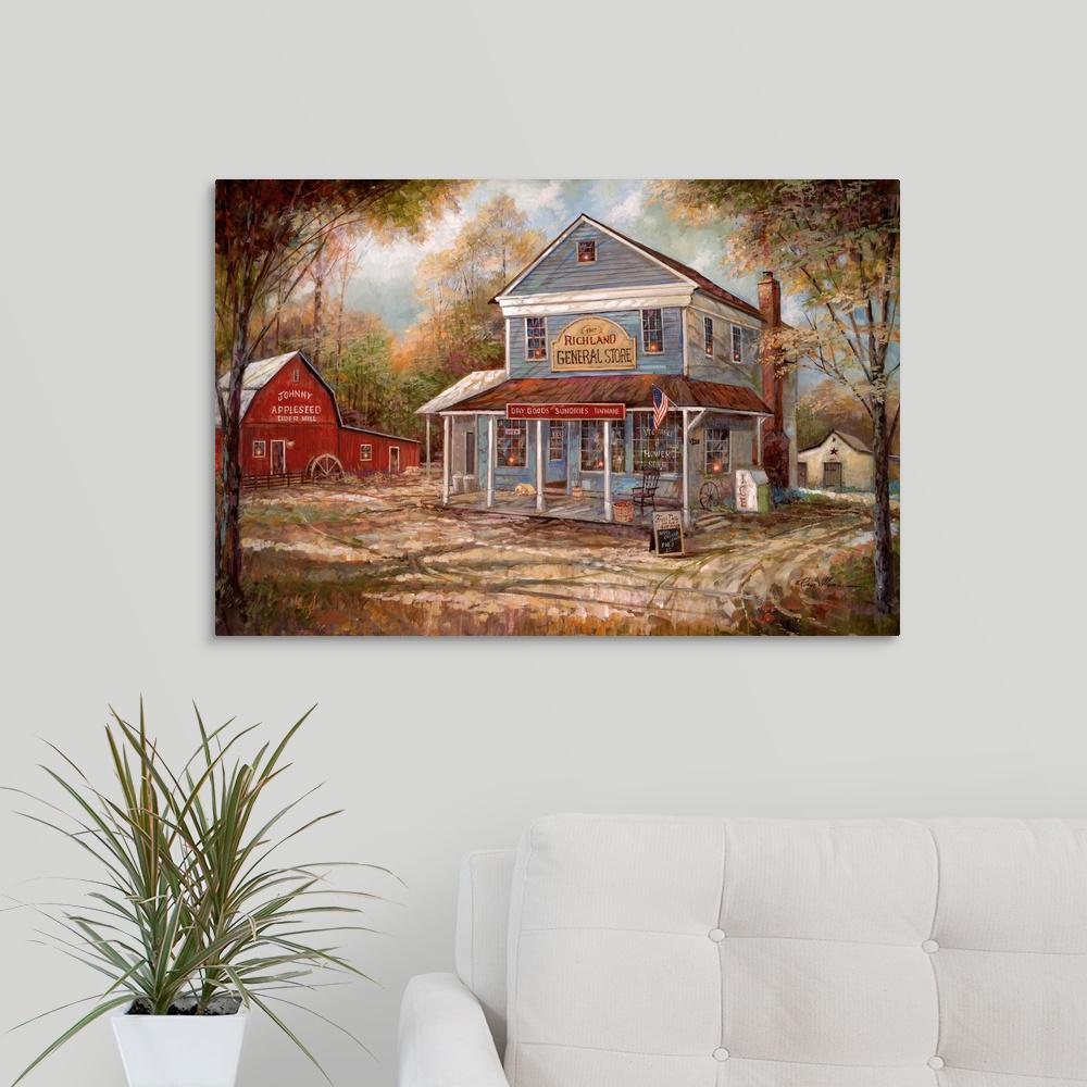 Greatbigcanvas richland general store by ruane manning canvas wall art 2525676 24 30x20 the home depot