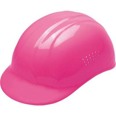 67 Bump Cap with 4-Point Plastic Suspension in Hi Viz Pink