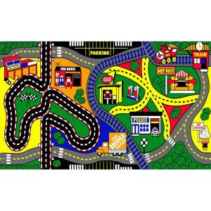 Natco My Town 3 Ft X 5 Ft Kids Play Mat 2571 91 20b