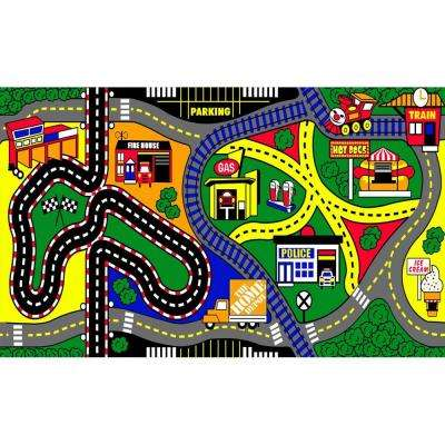 My Town 3 ft. x 5 ft. Kids Play Mat