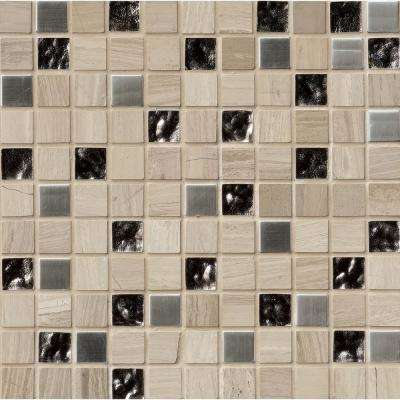Castle Rock 12 in. x 12 in. x 8mm Glass Metal Stone Mesh-Mounted Mosaic Tile (10 sq. ft. / case)