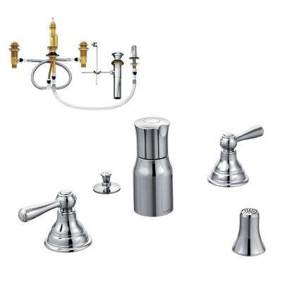 Kingsley 2-Handle Bidet Faucet Trim Kit with Valve in Chrome