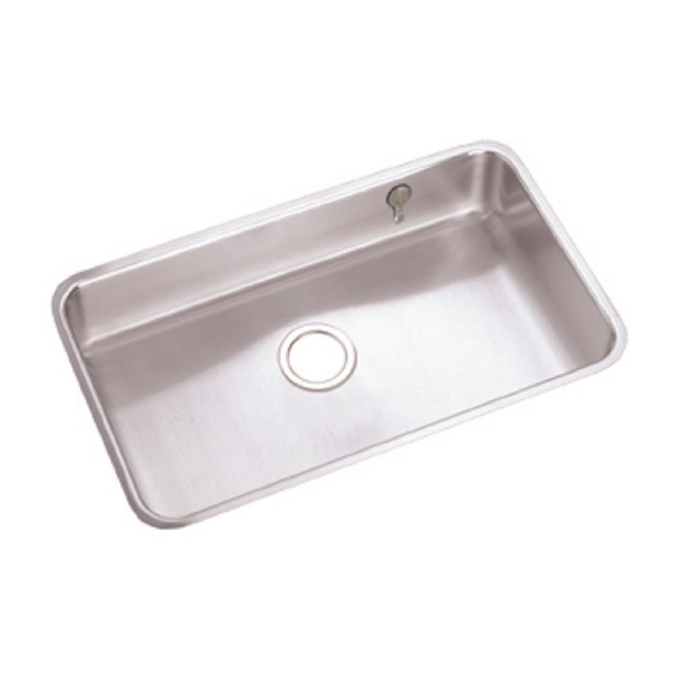 Lustertone Undermount Stainless Steel 31 in. Single Bowl Kitchen Sink with
