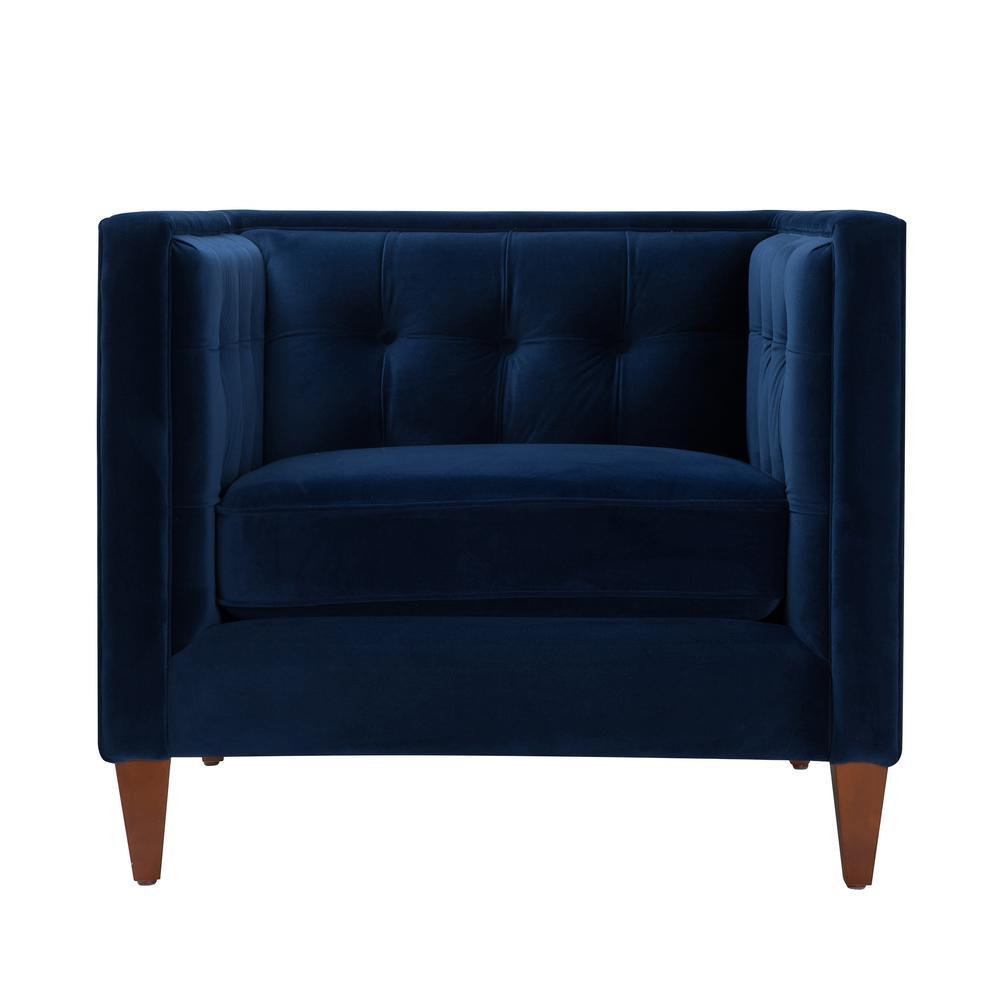 Jennifer Taylor Jack Tuxedo Navy Blue Arm Chair 8403-1-859