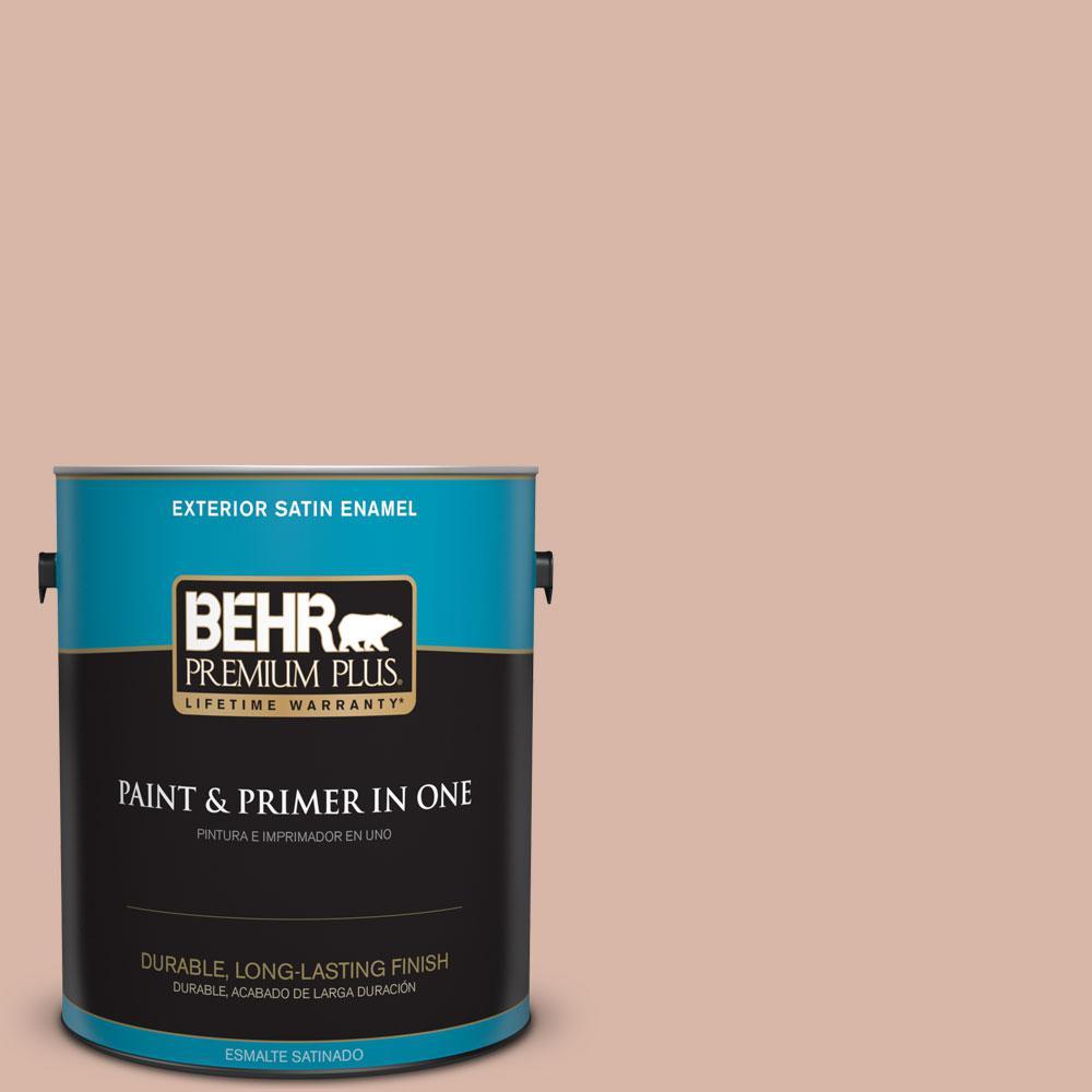 BEHR Premium Plus 1-gal. #S190-3 Sedona Pink Satin Enamel Exterior Paint