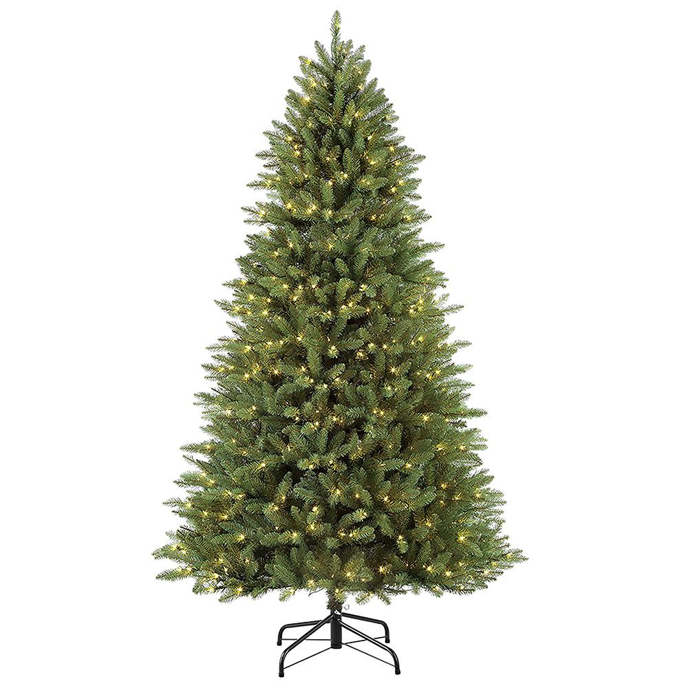 Fraser Fir Christmas Trees: Puleo International 7.5 Ft Pre-Lit Elegant Series Fraser