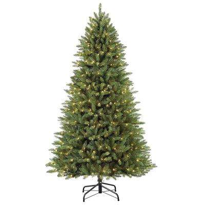 7.5 ft Pre-Lit  Elegant Series Fraser Fir Artificial Christmas Tree with 600 UL-Listed Clear Lights