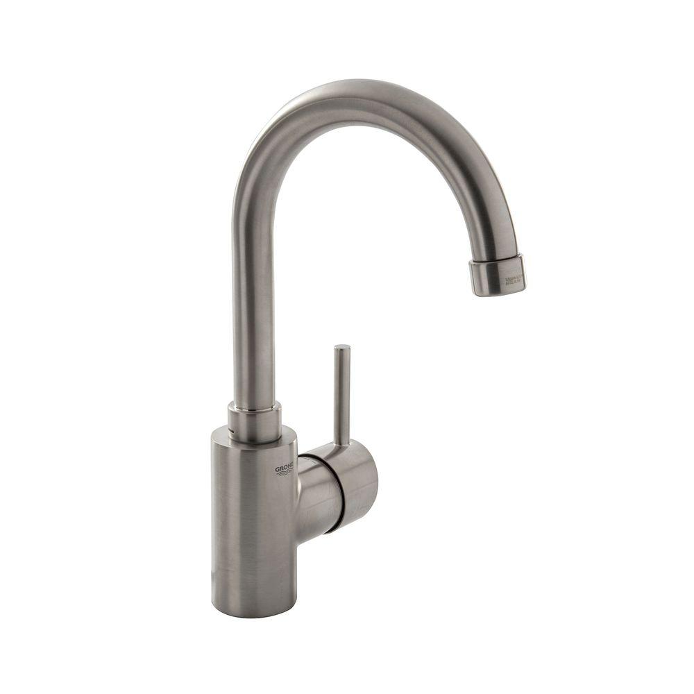 Grohe concetto single hole single handle bathroom faucet - Single hole bathroom faucets brushed nickel ...