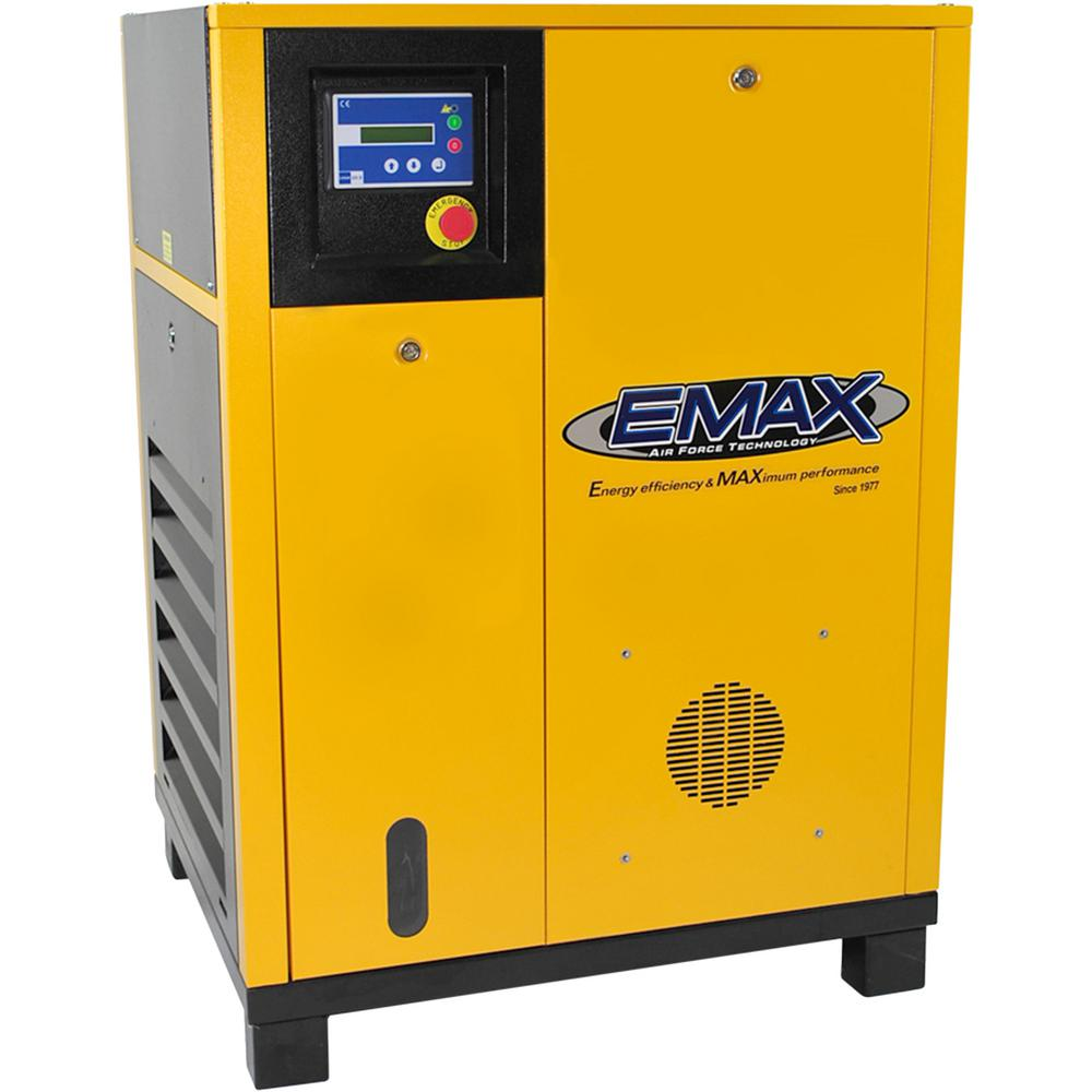 EMAX Premium Series 10 HP 460-Volt 3-Phase Stationary Electric Rotary Screw Air Compressor