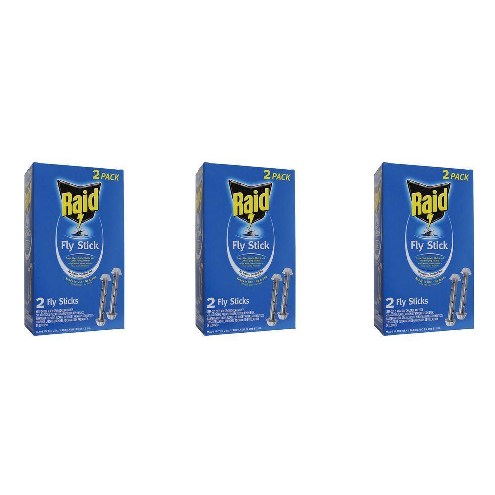 Raid 2 Jumbo Fly Sticks (3-Packs) by Raid