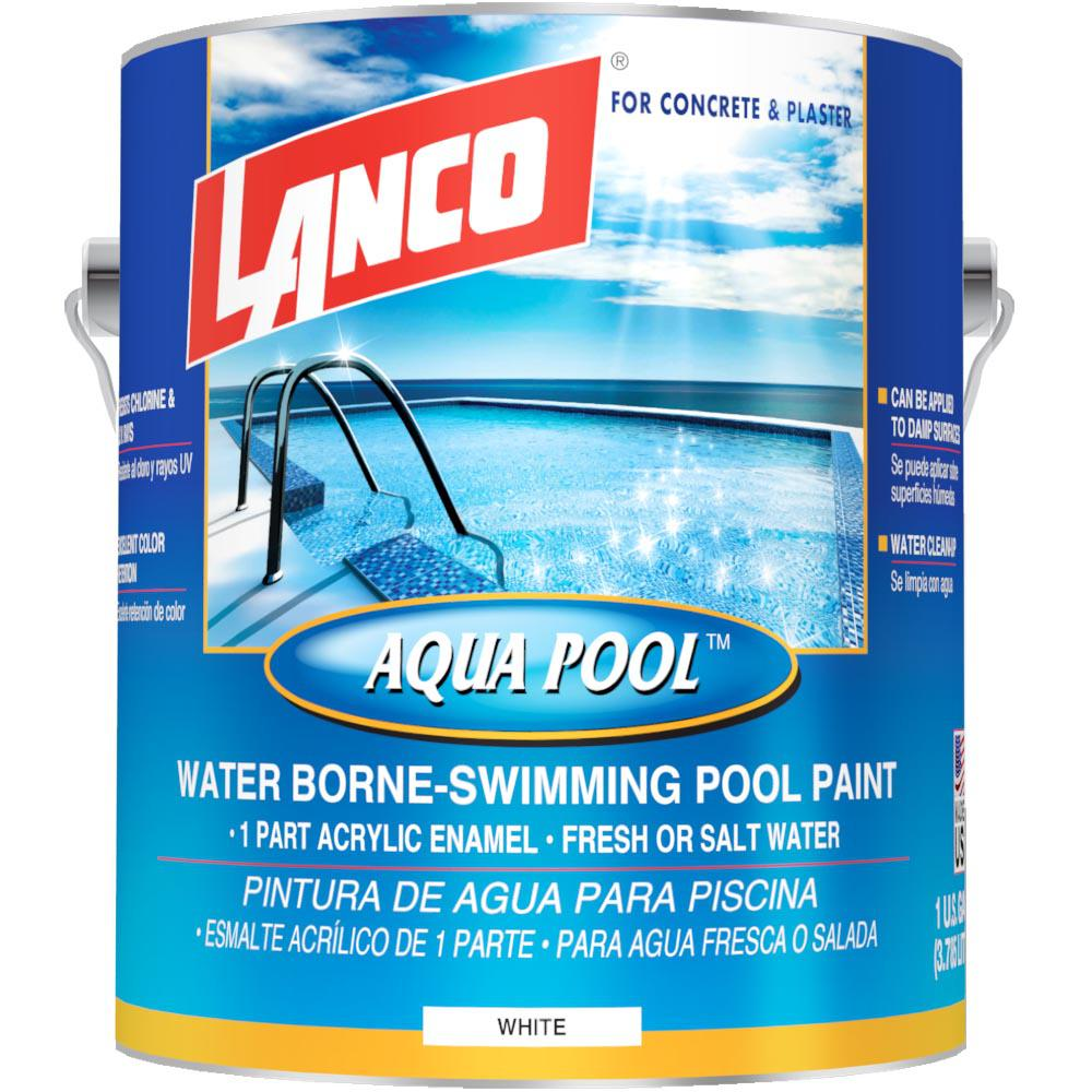 Insl X 1 Gal Satin Rubber Based Black Swimming Pool Paint