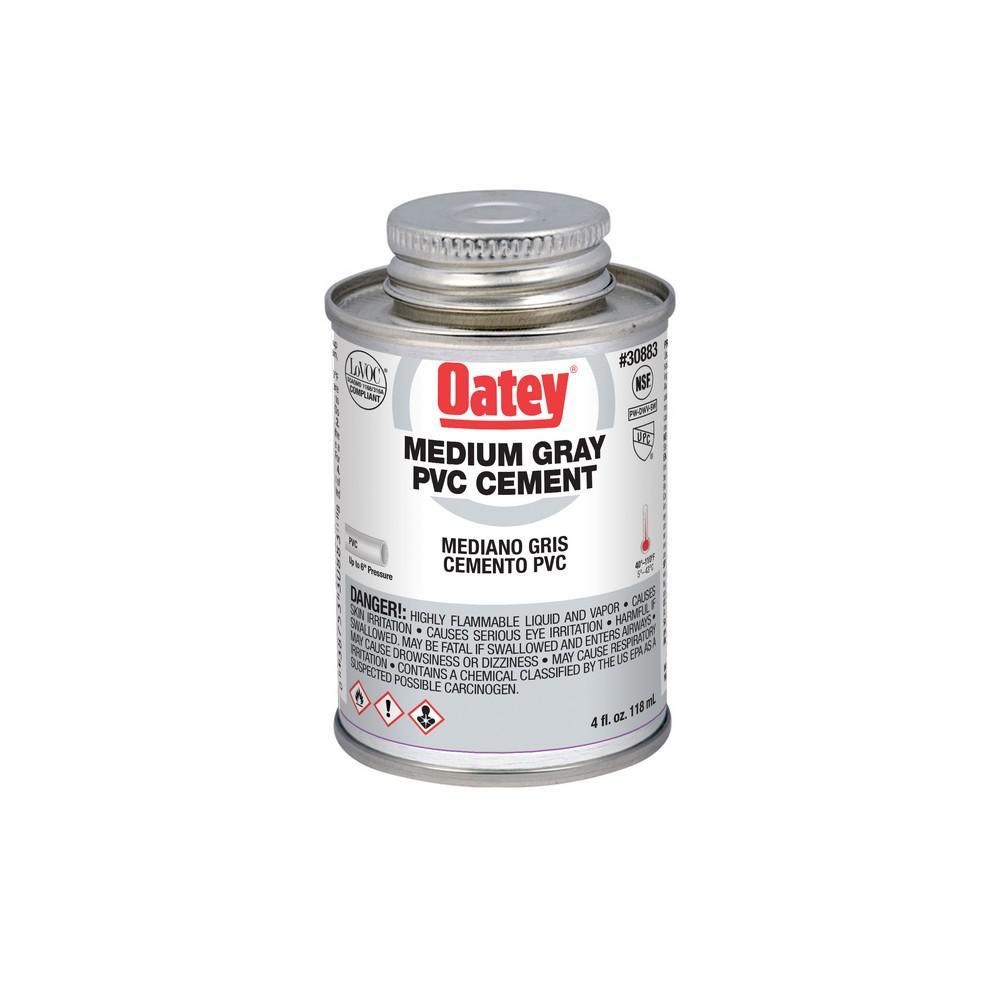 4 oz. PVC Fast Set Medium-Gray Cement