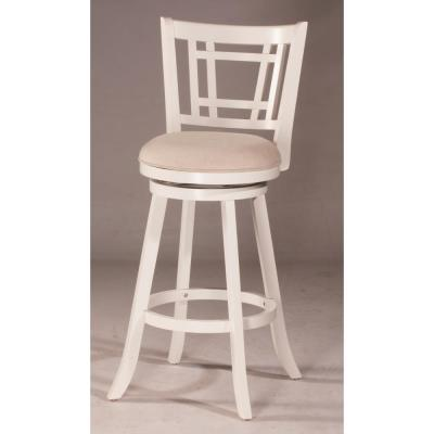 Fairfox White Swivel Counter Stool