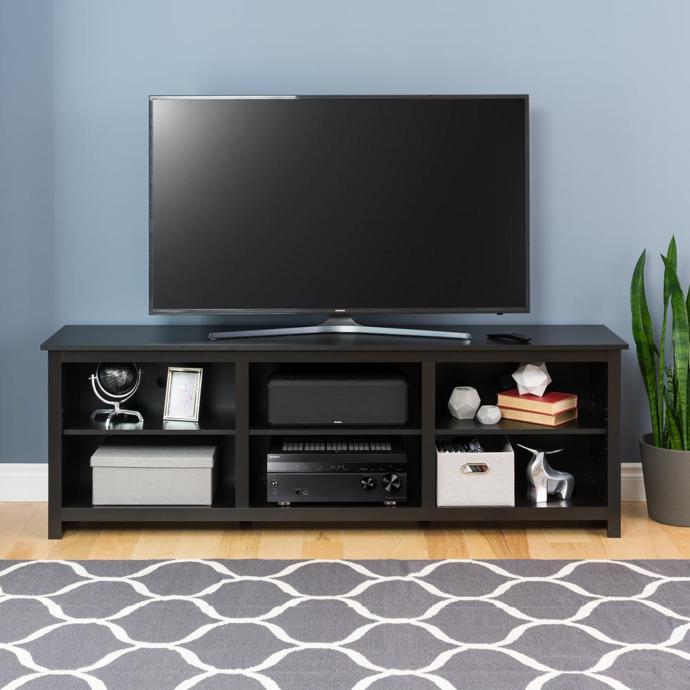 Prepac Sonoma 72 in. TV Stand in Black