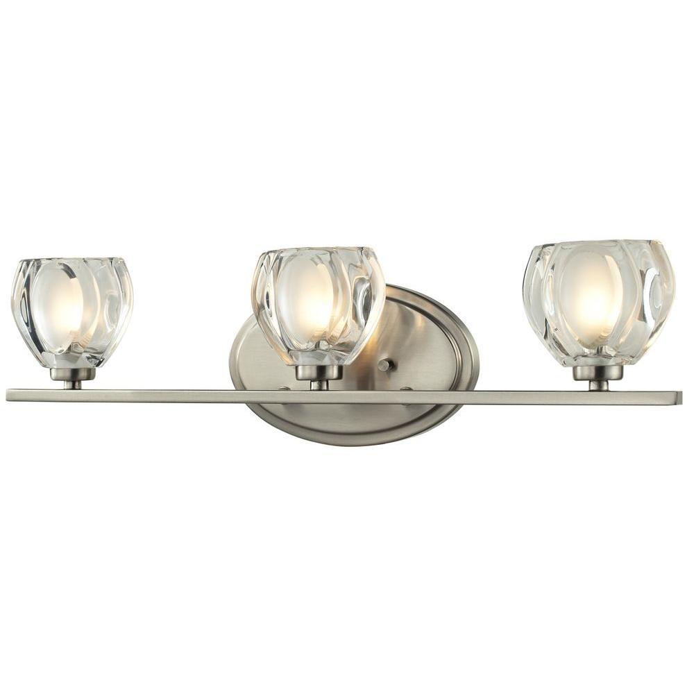 Suave 3-Light Brushed Nickel Bath Vanity Light