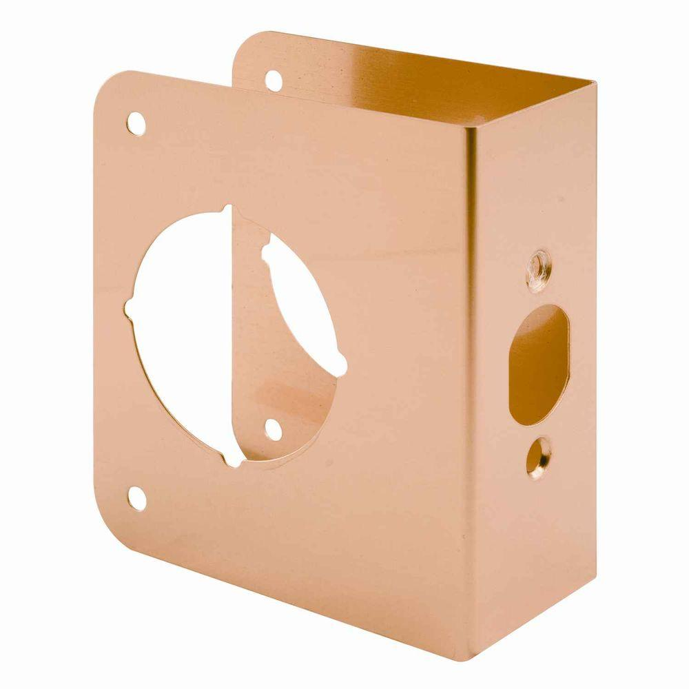 1-3/4 in. Thick Solid Brass Lock and Door Reinforcer, 2-1/8 in.